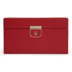 Preview image of WOLF Palermo Red Leather Small Jewellery Box