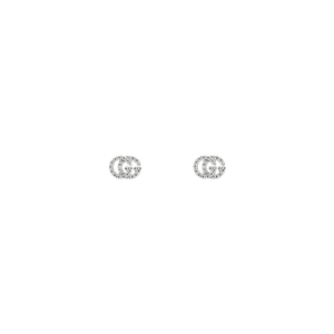 Preview image of Gucci GG White Gold Diamond Set Earrings