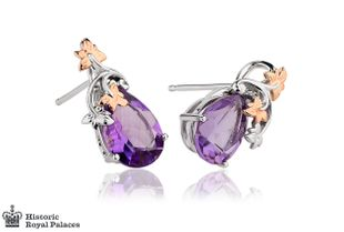 Preview image of Clogau 18ct White Gold Great Vine Amethyst Earrings