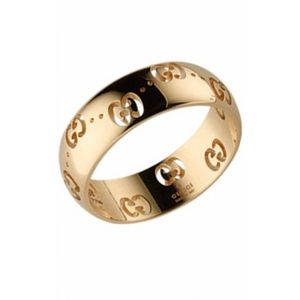 Preview image of Gucci Yellow Gold Icon Ring Size 12