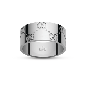 Preview image of Gucci Wide Icon 18ct White Gold Ring Size 24