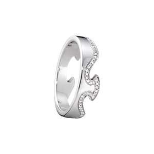 Preview image of Georg Jensen White Gold Diamond Set Fusion End Ring Size 56