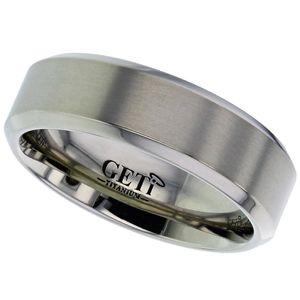 Preview image of Titanium 7mm Chamfered Edge Gents Wedding Ring