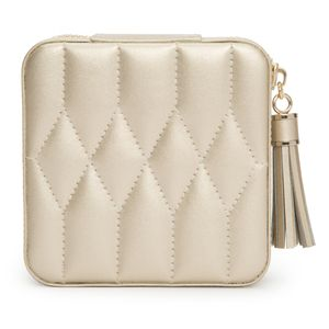 Preview image of WOLF Caroline Champagne Leather Travel Case
