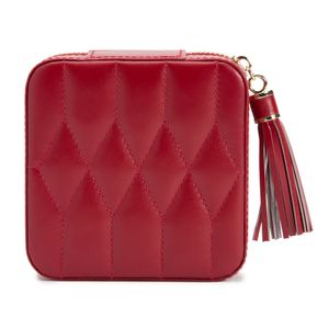 Preview image of WOLF Caroline Red Leather Travel Case