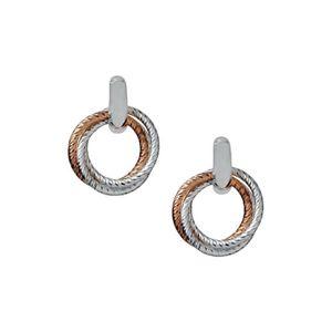 Preview image of Links of London Aurora Cluster Bi-Metal Hoop Earrings