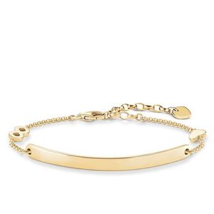 Preview image of Thomas Sabo Yellow Gold Plated Love Bridge Heart Infinity Bracelet