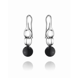 Preview image of Georg Jensen Sphere Sterling Silver With Black Agate Earrings