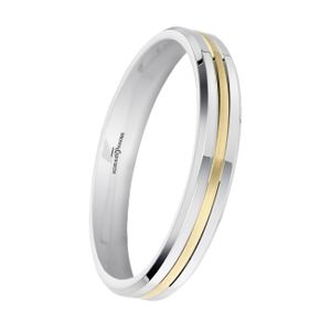 Preview image of 9ct White & Yellow Gold 3mm Ladies Fuse Wedding Ring