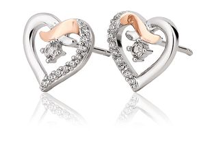 Preview image of Clogau Kiss Heart Cubic Zirconia Earrings