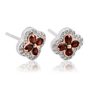 Preview image of Clogau Silver Tudor Court Garnet Earrings