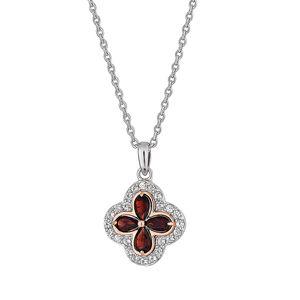 Preview image of Clogau Silver Tudor Court Garnet Necklace