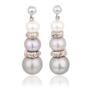 Preview image of Clogau Tree of Life® Pearl Silver Drop Earrings