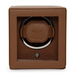 Preview image of WOLF Cub Cognac Watch Winder With Cover