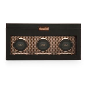 Preview image of WOLF Axis Copper Watch Winder With Storage