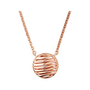 Preview image of Thames 18ct Rose Gold Vermeil Necklace 45cm
