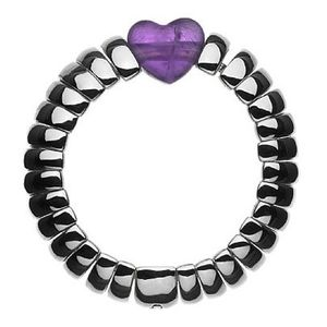 Preview image of Links of London Sweetie Amethyst Silver Ring Size L