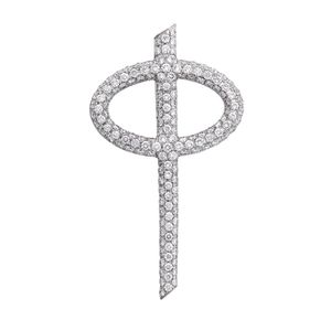 Preview image of 18ct White Gold 1.45ct Diamond Small Phi Pendant