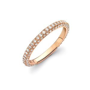 Preview image of Theo Fennell Rose Gold Diamond Spangle Ring Size N
