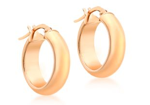 Preview image of 9ct Rose Gold 17mm Polished Hoop Earrings
