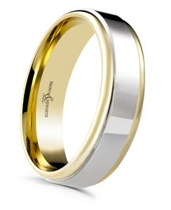 Preview image of 9ct Yellow Gold & Palladium 5mm Blend Gents Wedding Ring