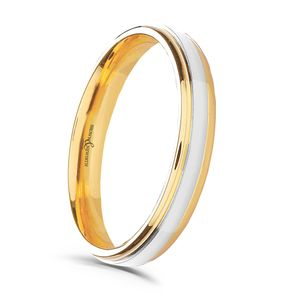 Preview image of 9ct Yellow & White Gold 3mm Blend Ladies Wedding Ring