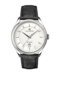 Preview image of Accurist Men's Stainless Steel Sunray Dial Leather Strap Watch