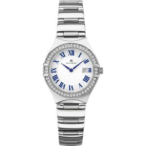Preview image of Accurist White and Blue Stone set Bezel Ladies Watch