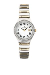 Preview image of Accurist Gold Plated White Stone Set Bezel Ladies Bracelet Watch