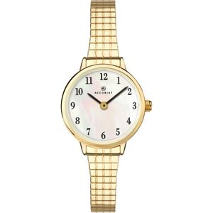 Preview image of Accurist Expander Yellow Gold Plated Mother of Pearl Ladies Watch