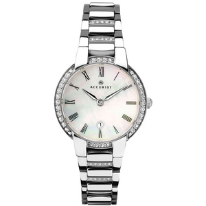 Preview image of Accurist Mother Of Pearl Stone Set Bezel Ladies Watch