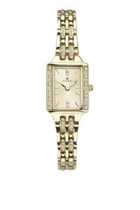 Preview image of Accurist Ladies Yellow Gold Plated Stone Set Bracelet Watch