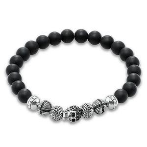 Preview image of Thomas Sabo Obsidian Skull Stone Set Bracelet 19cm