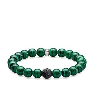 Preview image of Thomas Sabo Black Malachite Green Beaded Bracelet