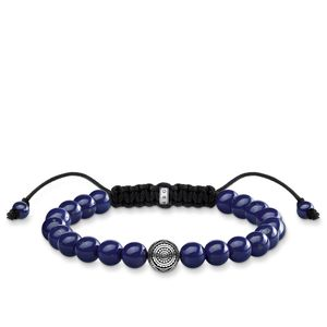 Preview image of Thomas Sabo Ethnic Blue Tie Beaded Bracelet