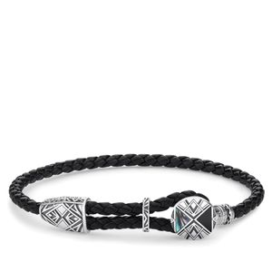 Preview image of Thomas Sabo Black Plaited Disc Bracelet