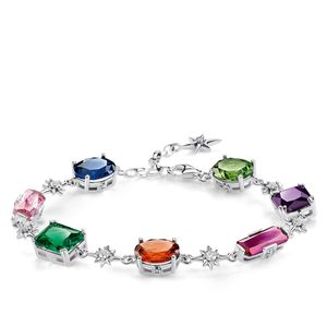 Preview image of Thomas Sabo Colourful Stones Sterling Silver Bracelet