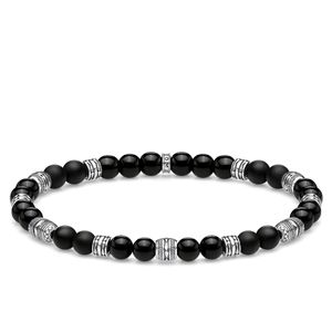 Preview image of Thomas Sabo Lucky Charm Black Beaded Bracelet