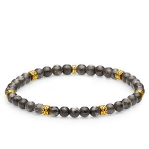 Preview image of Thomas Sabo Lucky Charm Grey Yellow Gold Plated Beaded Bracelet