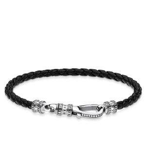 Preview image of Thomas Sabo Rebel Black Plaited Bracelet