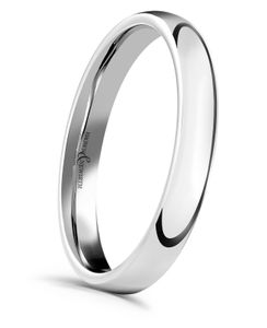 Preview image of Platinum 3mm Medium Court Ladies Wedding Ring