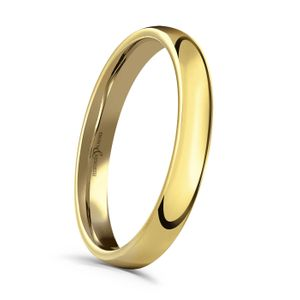 Preview image of 18 Carat Yellow Gold 3mm Medium Court Ladies Wedding Ring