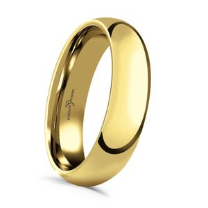 Preview image of 18 Carat Yellow Gold 5mm Medium Court Gents Wedding Ring