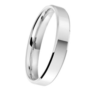 Preview image of Platinum 3.5mm Bevelled Edge Ladies Wedding Ring