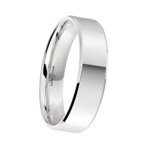 Preview image of Platinum 6mm Bevelled Edge Gents Wedding Ring