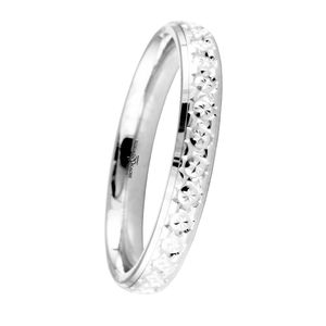 Preview image of 9ct White Gold 3mm Sparkle Cut Ladies Wedding Ring