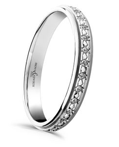 Preview image of 9ct White Gold 3mm Stella Sparkle Cut Ladies Wedding Ring