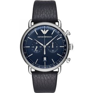 Preview image of Emporio Armani Aviator Chronograph Blue Dial Gents Strap Watch