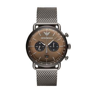 Preview image of Emporio Armani Aviator Gun Metal Chronograph Gents Bracelet Watch