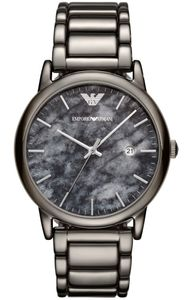 Preview image of Emporio Armani  LUIGI Grey and Black textured Dial Gents Bracelet Watch